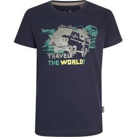 Elkline Abenteuer T-shirt Børn, blueshadow/vw